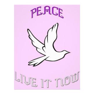 Peace vivant il maintenant prospectus personnalisés