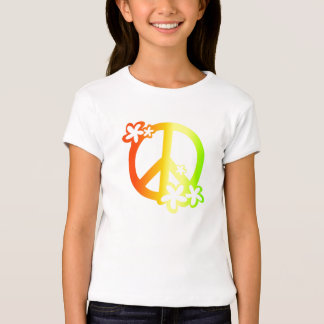 peace with flowers rasta colors T-Shirt