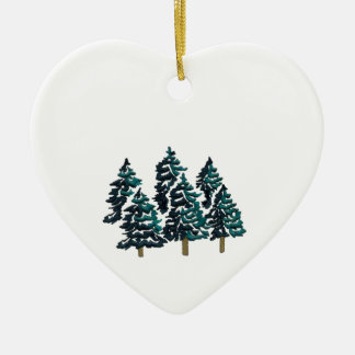 PEACE WITH IN CERAMIC HEART ORNAMENT