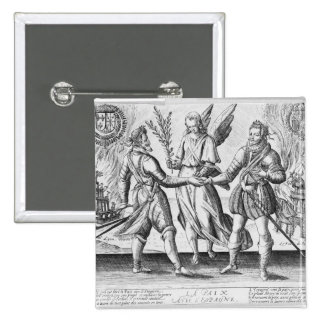 Peace with Spain 2 Inch Square Button