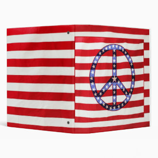 peace within the stars and stripes binders