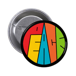 Peace - Word Art 2 Inch Round Button