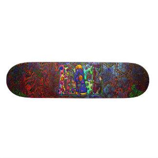 Peace Word Art Birds and Butterflies & Psychedelic Custom Skateboard