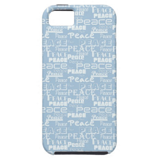 Peace Word Art Blue iPhone 5 Covers