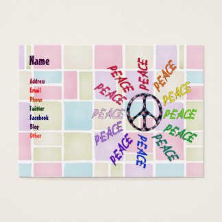 Peace Words Circle Business Card