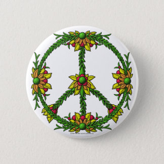 Peace Wreath 2 Inch Round Button