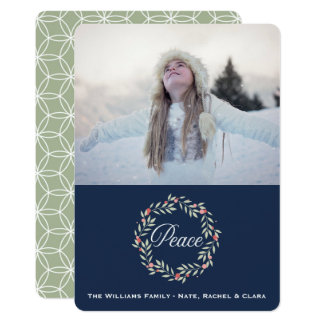Peace Wreath | Custom Photo Holiday Greeting Card