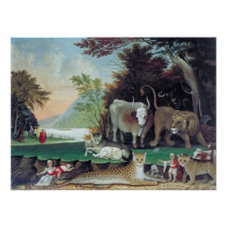 Peaceable Kingdom by Edward Hicks Poster