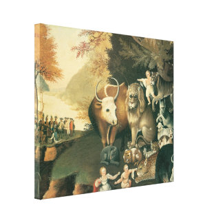 Peaceable Kingdom c.1834 Gallery Wrapped Canvas
