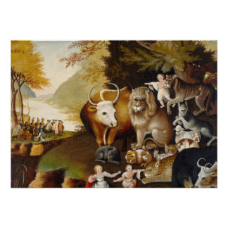 Peaceable Kingdom, c.1834 (oil on canvas) Poster