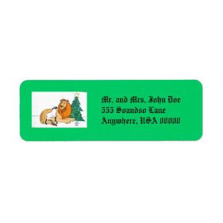 Peaceable Kingdom Return Address Label