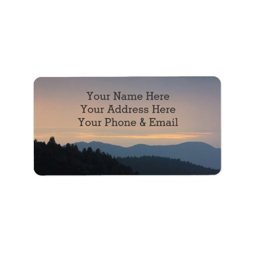 Peaceful Afternoon Blue Mountains Trees Forest Address Label