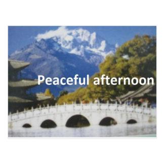peaceful afternoon postcard