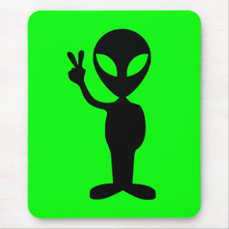 Peaceful Alien Mouse Pad