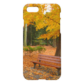 Peaceful and Quiet Autumn in the Park iPhone 7 Case