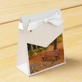 Peaceful and Quiet Autumn in the Park Wedding Favor Boxes