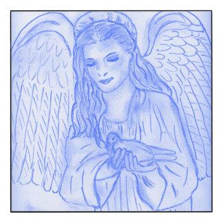Peaceful Angel in Blue
