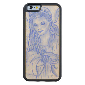 Peaceful Angel in Blue Carved Maple iPhone 6 Bumper Case