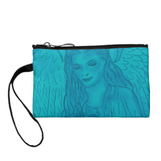 Peaceful Angel In Blue Coin Wallets