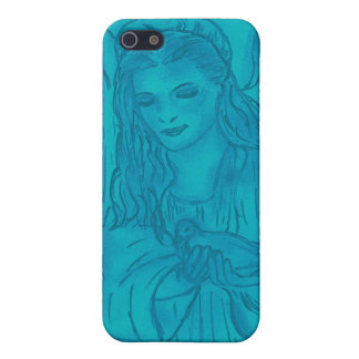 Peaceful Angel In Blue Cover For iPhone 5/5S