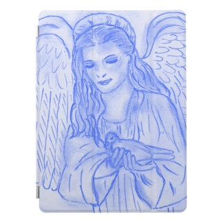 Peaceful Angel in Blue iPad Pro Cover