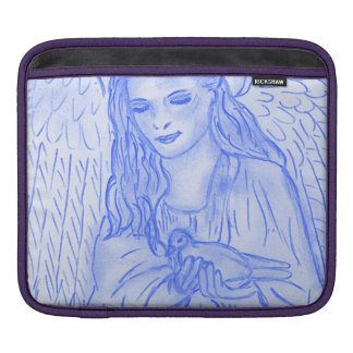 Peaceful Angel in Blue iPad Sleeve