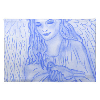Peaceful Angel in Blue Placemat