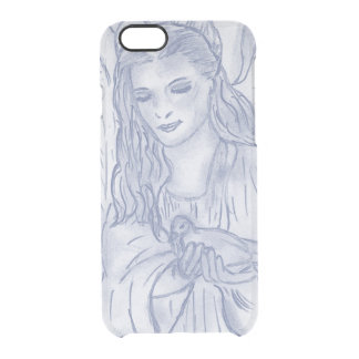 Peaceful Angel in Dusky Blue Clear iPhone 6/6S Case
