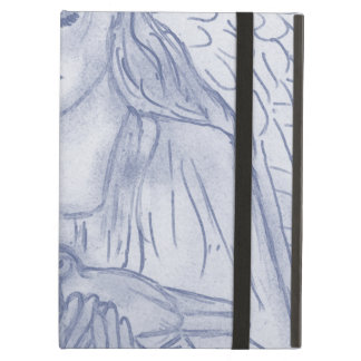 Peaceful Angel in Dusky Blue Cover For iPad Air