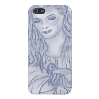 Peaceful Angel in Dusky Blue iPhone 5 Cases