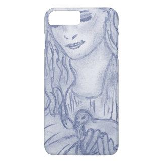 Peaceful Angel in Dusky Blue iPhone 7 Plus Case