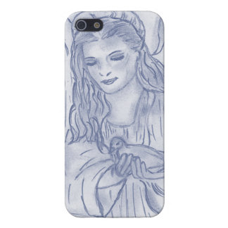 Peaceful Angel in Dusky Blues iPhone 5/5S Covers