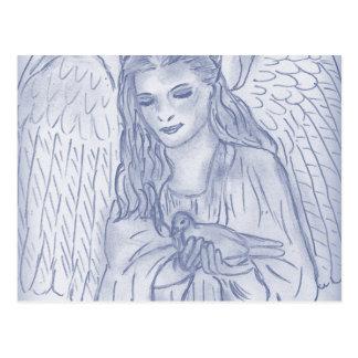 Peaceful Angel in Dusky Blues Postcard