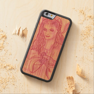 Peaceful Angel in Pink Carved Cherry iPhone 6 Bumper Case