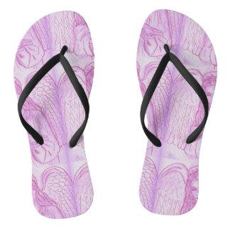 Peaceful Angel in Pink Flip Flops