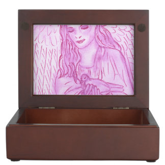 Peaceful Angel in Pink Keepsake Box