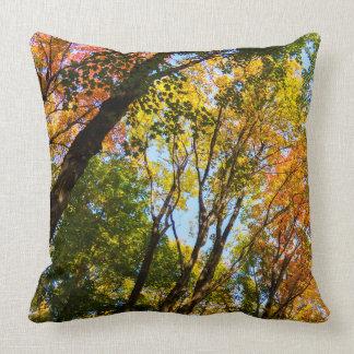 Peaceful Autumn Trees Throw Pillow