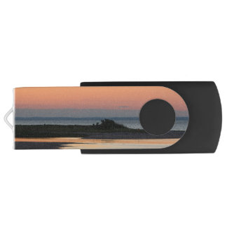 Peaceful Beach at Sunset Customizable Swivel USB 2.0 Flash Drive