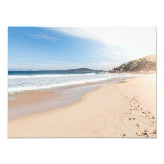 Peaceful beach scene print photographic print