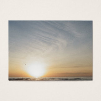 Peaceful Beach Sunset Sunrise Add Your Text Blank Business Card