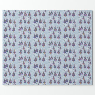 Peaceful Birds and Trees Wrapping Paper