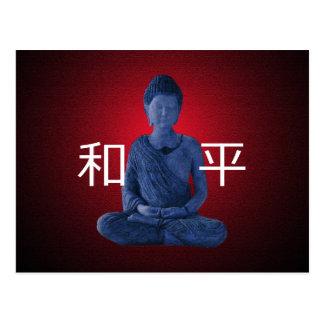 Peaceful Blue Buddha Postcard