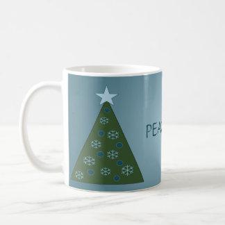 Peaceful Blue Christmas Tree Mug