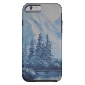Peaceful Blue Mountain Tough iPhone 6 Case