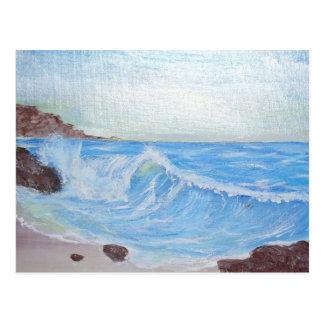 Peaceful Blue Sea Postcard