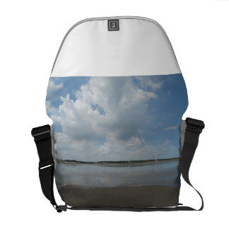 Peaceful Blue Sky, all we need is simple life Commuter Bags
