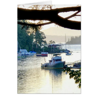 Peaceful Boat Harbor Card