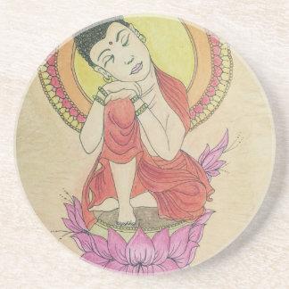 Peaceful buddha coaster