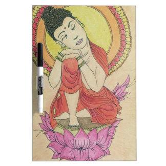 Peaceful buddha dry erase board