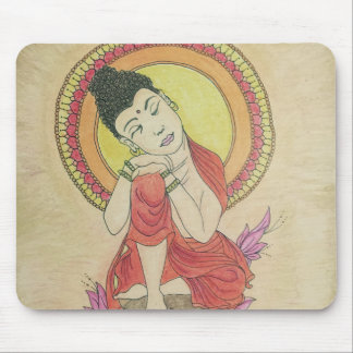 Peaceful buddha mouse pad